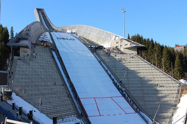 Лыжный трамплин Holmenkollen в Осло Хольменколлен